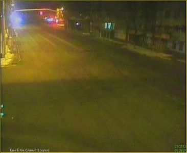 ДТП Белгород [21.02.2012] / 2я камера видеонаблюдения