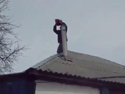 Очень странный способ чистки дымохода