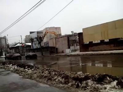 Демонтаж здания в Рязани