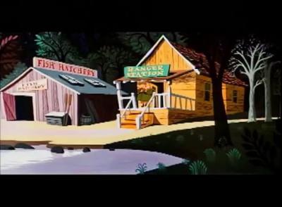 Humphrey the Bear Cartoon - Hooked Bear (Best Quality)