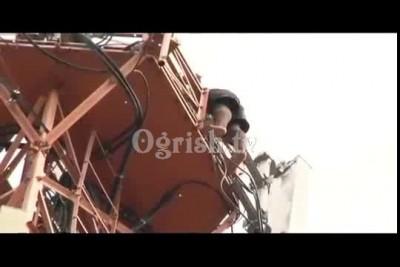 Самоубийство - прыжок с радио башни