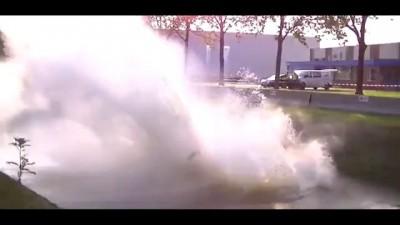 Авария на ралли , Porsche 964 RSR Hellendoorn в Нидерландах .