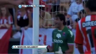 Amazing Free Kick Gelabert   Estudiantes 1-0 Tigre - Torneo Final 2013 - 09/02/2013
