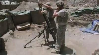 Тяжолый бой войск США против талибов.