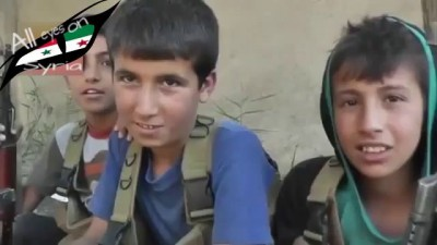 the 3 Youngest Syrian Rebels fighting Syrian arab army in deir ezzor