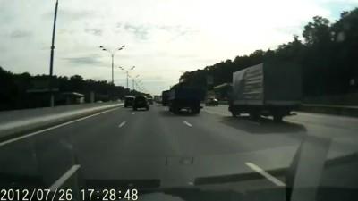 Авария на внутр. МКАД 21й км.