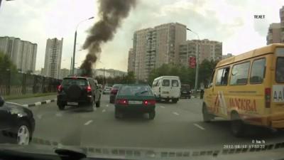 ГАЗель горит на Братиславской .