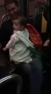 Irish fans singing lullabies to a French baby on Bordeaux train