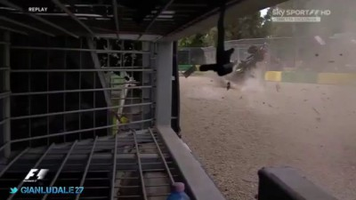Авария Алонсо. ГП Австралии 2016