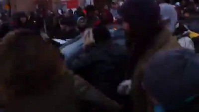 Car plows through protesters during Ferguson rally in south Minneapolis