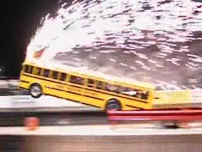 Автобус на треке