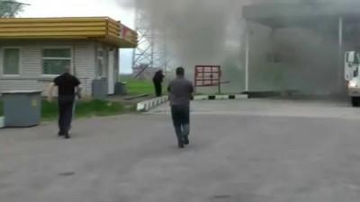 Горящая фура на АЗС в Брянске...