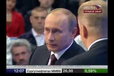 Путин отвечает на неудобный вопрос