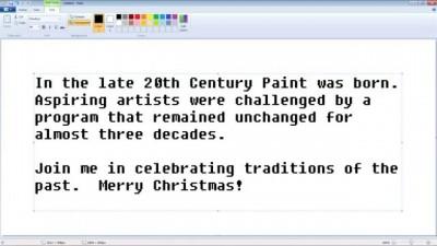 """Microsoft показала, как нарисовать """"винтажного"""" Санта-Клауса в Paint"""