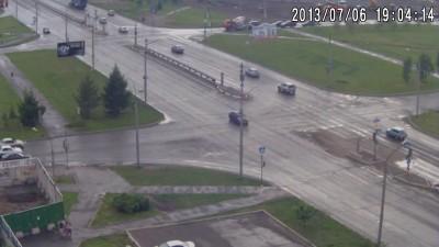 ДТП на пересечении улиц 9 мая и Авиаторов . Красноярск