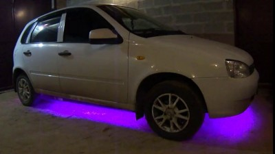 Подсветка днища лентой RGB