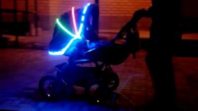 Подсветка детской коляски