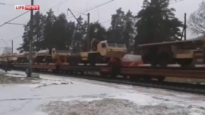 Поезд с танками армии США проехал по Латвии