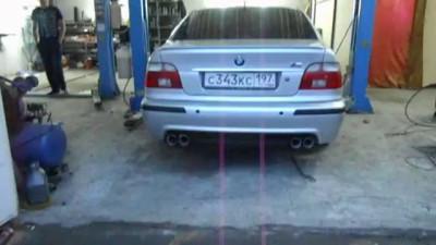 Разводка выхлопной системы на две стороны на BMW E39