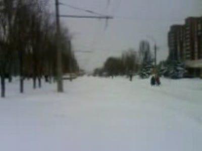 зима Луганск