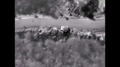 Нанесение авиаудара по колонне бронированной и автомобильной техники в провинции ЛАТАКИЯ