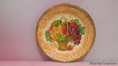 Decoupage plates on eggshells. Master Class