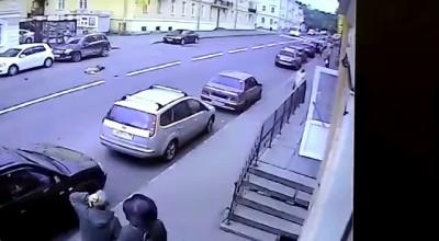 Смертельная подстава от пешехода