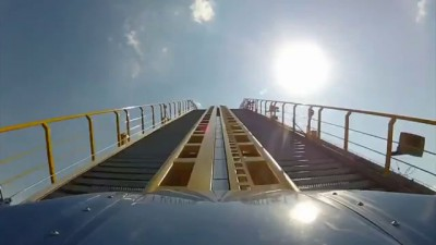 SkyRush POV Hersheypark 2012 Front Seat On-Ride Intamin Winged Hyper Roller Coaster HD 1080p