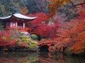 Beautiful-scenery-japanese-house-and-font-b-garden-b-font-autumn-4-Sizes-Home-Decoration-Canvas