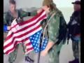 Русские десантники топчут американский флаг