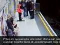 Псих столкнул девушку на рельсы