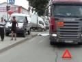 В Новосибирске женщину переехал бензовоз