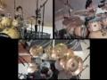 10 летняя девочка круто играет на барабанах.