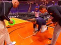 Guinness World Records Day 2014 - Longest backwards basketball shot