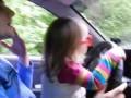 Ева Королева,учимся водить машинку