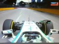 F1 2014 Singapore GP FP1 Nico Rosberg loses his right mirror