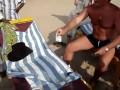 Россия - Индия. Армрестлинг на пляже