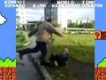 Бомж по прозвищу Компот избивает школьника (Mario Style)