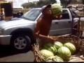 Необычный способ разгрузки арбузов
