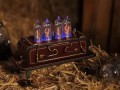 IN-14 handmade NIXIE CLOCK Leather Steampunk Style #2