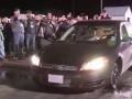 Дрифтинг видео : Разогрев публики перед драг рейсингом