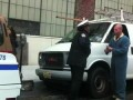 crazy guy cuts off parking meter with saw!!!