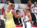 Wozniacki and Cibulkova dancing @ Tennis exhibition Tennis Classic 2011