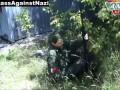 ДНР. Ополчение. Женщина-снайпер из Белоруссии. 11.07.2014 / DPR. A female sniper from Belarus.