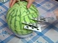 The Real Fruit Ninja: Slicing Fruits, Veggies with Playing Cards