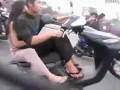Если пробил переднее колесо на мопеде?