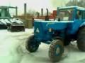 Колхозный дрифт на тракторе