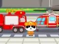 Мультик про пожарника Панду. Смотреть пожарная машина мультфильм. Пожарник Панда тушит пожар в лесу