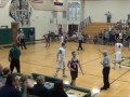 Scotty Lubkeman drains his first varsity three pointer