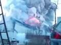 Видео с пожара на складах пиротехники